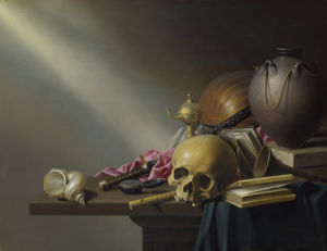 Still Life: An Allegory of the Vanities of Human Life by Harmen Steenwyck