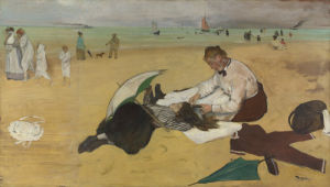 Beach Scene by Edgar Degas