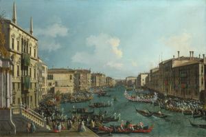 A Regatta on the Grand Canal by Giovanni Canaletto