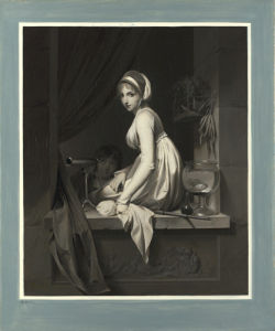 A Girl at a Window by Louis-Leopold Boilly