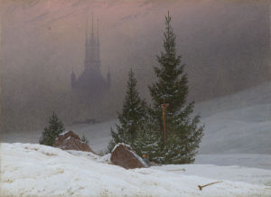 Winter Landscape by Caspar David Friedrich