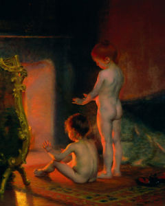 After the Bath, 1890 by Paul Peel