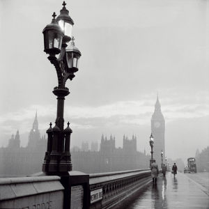 Westminster Bridge and Houses of Parliament, 1962 by Henry Grant