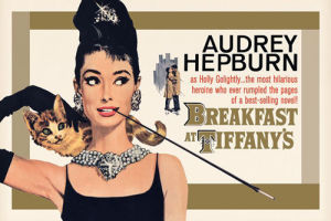 Audrey Hepburn - Breakfast at Tiffanys (Gold) by Anonymous