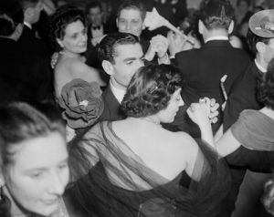 Shah of Persia dancing at Excelsior Hotel, Rome 1950 by Mirrorpix