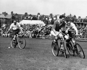 International bicycle polo, York 1948 by Mirrorpix