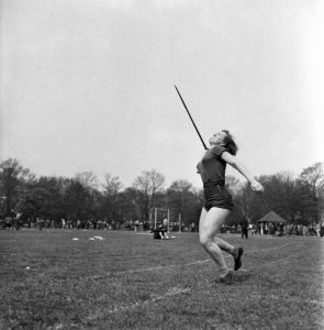 Throwing the javelin, Hercules AC 1953 by Mirrorpix