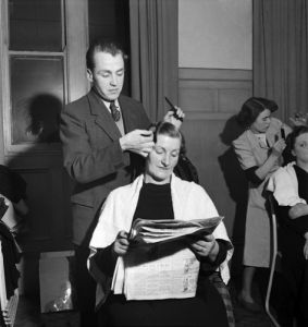 Apprentice hairdresser, 1952 by Mirrorpix