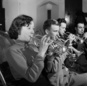 Brass band practice, 1953 by Mirrorpix