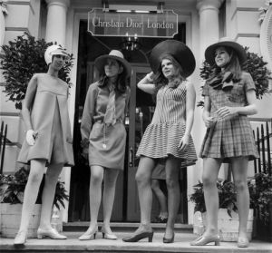 Christian Dior fashions, London 1967 by Mirrorpix