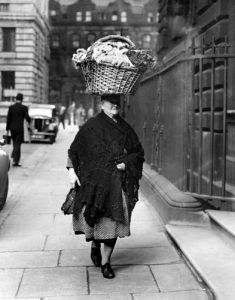 Flower seller, Liverpool 1945 by Mirrorpix