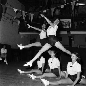 Tiller Girls rehearse, 1953 by Mirrorpix