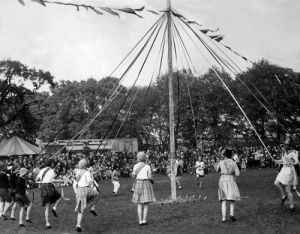 Maypole dancing, 1934 by Mirrorpix