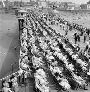 Bank Holiday on Blackpool Pier, 1960 by Mirrorpix