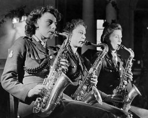 ATS dance band, 1944 by Mirrorpix