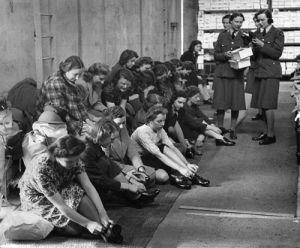 WAAF shoe shop, 1941 by Mirrorpix