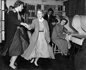 Record shop, 1956 by Mirrorpix