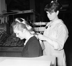 Selfridges beauty department, 1960 by Mirrorpix