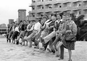 Pensioners holiday in Benidorm, 1983 by Mirrorpix