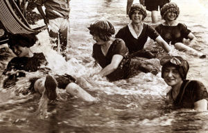Women bathing in the sea, 1906 by Mirrorpix