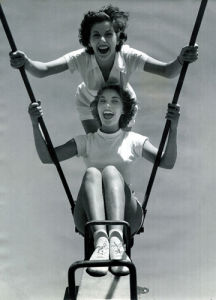 Butlins swing, Pwllheli 1960 by Mirrorpix