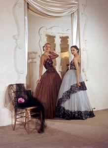 French fashion models 1950 by Mirrorpix