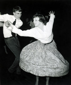 Couple jiving, Hammersmith 1957 by Mirrorpix