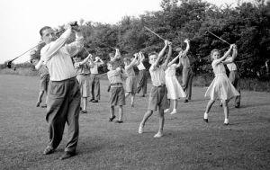 Childrens golf lesson, Westerhope 1955 by Mirrorpix