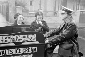 Walls Ice Cream Tricycle, 1940 by Mirrorpix