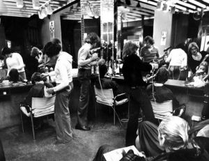 Nuthouse hairdressers, Cardiff 1976 by Mirrorpix