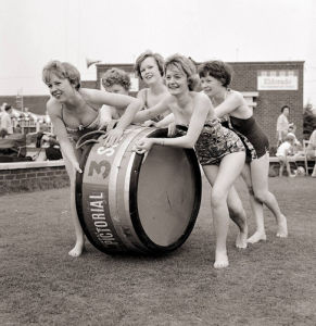 Tub race at Butlins holiday camp, Filey 1962 by Mirrorpix