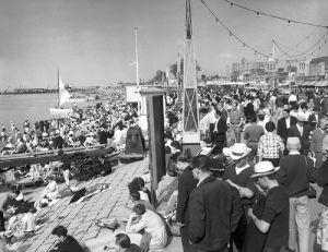Southend beach. 1962 by Mirrorpix