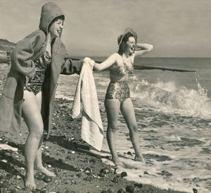 Paddling in the sea, 1948 by Mirrorpix