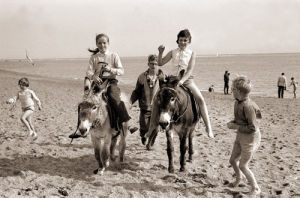 Donkey rides on beach, Exmouth 1962 by Mirrorpix
