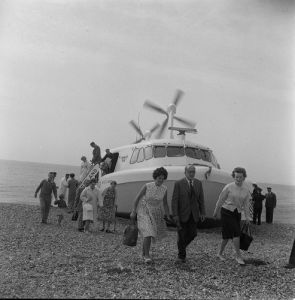 Hovercraft ferry, 1960s by Mirrorpix