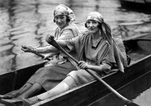 Rowing in London Park, 1930s by Mirrorpix