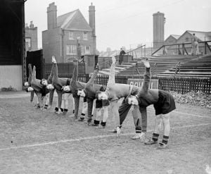QPR footballers training, 1930s by Mirrorpix