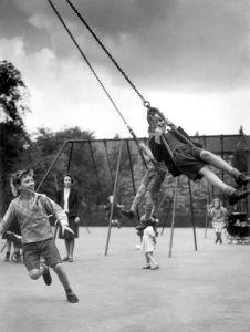 Children in playground, 1942 by Mirrorpix