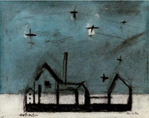 Night landscape by Lyonel Feininger