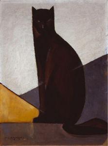 Le chat noir, 1921 by Marcel-Louis Baugniet