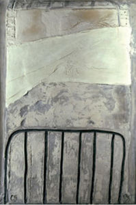 Grand blanc a  la cage, 1965 by Antonio Tapies