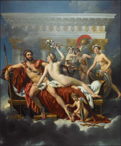 Mars & Venus by Jacques-Louis David