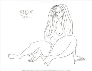 Nu assis, 1969 by Pablo Picasso