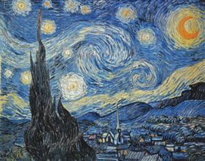 Sternennacht, 1889 by Vincent Van Gogh