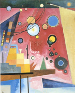 Schweres Rot, 1924 by Wassily Kandinsky