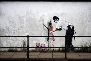 Stop and Search Girl by Street Art