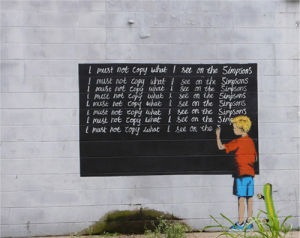 Simpsons by Street Art