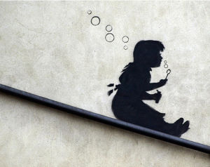 Bubble Girl by Street Art
