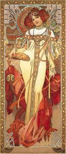 Automne, 1900 by Alphonse Mucha