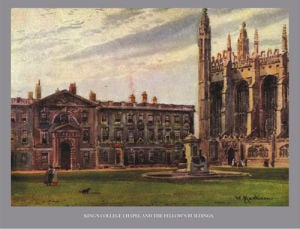 Cambridge - King's College Chapel and Fellow's Building by National Railway Museum